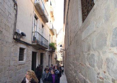Calle en el barrio judio para restaurante Girona comida tradicional catalana