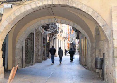 Arcada en el centro de girona , restaurant donde comer bien en el centro de Girona